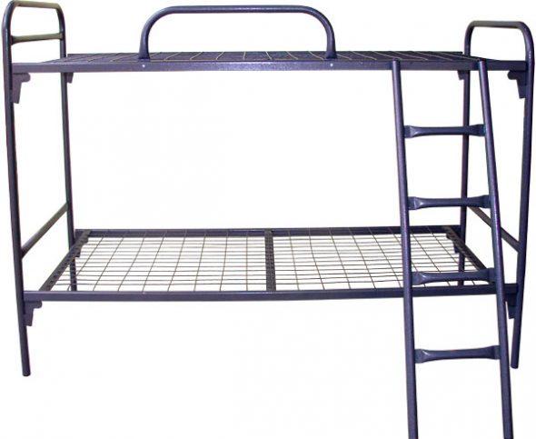 Кровать двухъярусная металлическая С-С2 (700х1860)(с лестницей и ограждением)