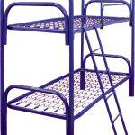 Кровать двухъярусная металлическая синяя