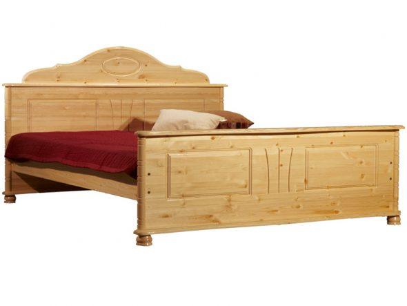 Кровать из сосны двухспальная
