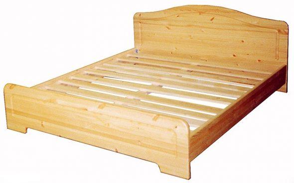 Кровати из массива сосны двухспальная