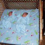 Кроватка для новорожденной двойни до 4-5 месяцев