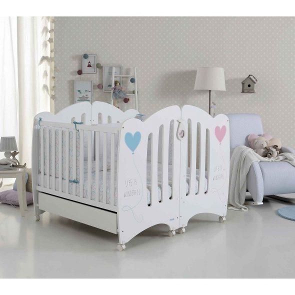 Кроватки для двойняшек Wonderful