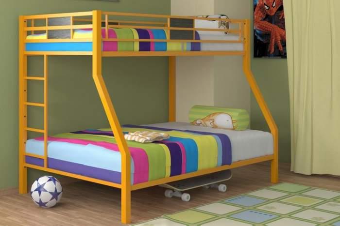 Как сделать металлическую кровать двухъярусную
