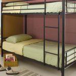 Металлическая двухъярусная кровать-дизайн