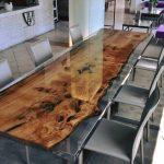 Обеденный стол заливка эпоксидной смолой
