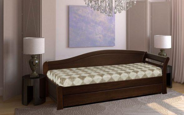Односпальная кровать из массива дерева