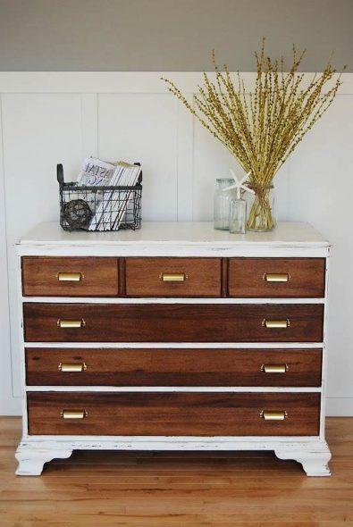 Перекрасить таким способом можно практически любую мебель
