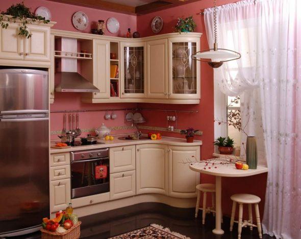 угловая кухня прованс