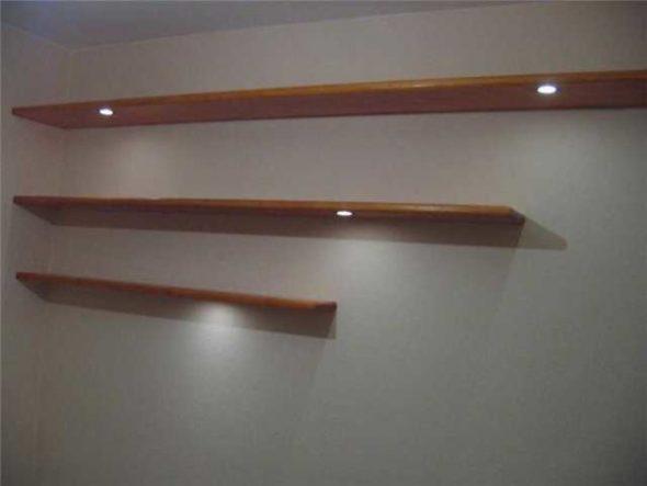 Самая простая по дизайну полка дна стену для книг