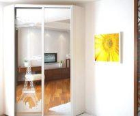 Шкаф-зеркало с рисунком