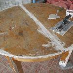 Шпаклевка стола