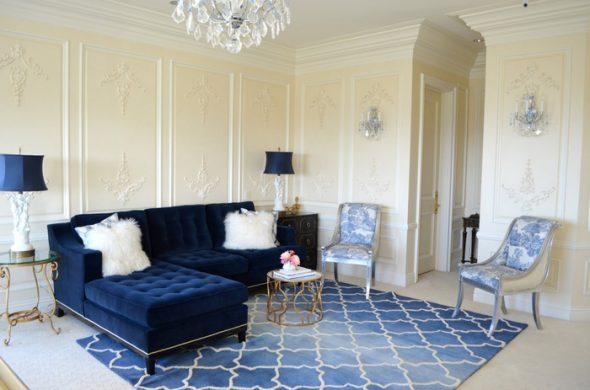 Синий диван фото-идея