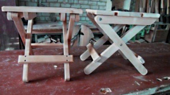 Складной стульчик из дерева своими руками