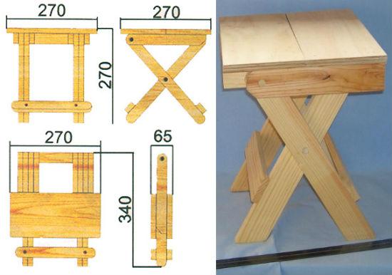 Складной стул из дерева своими руками 24