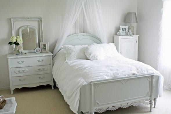 Спальня прованс, балдахин