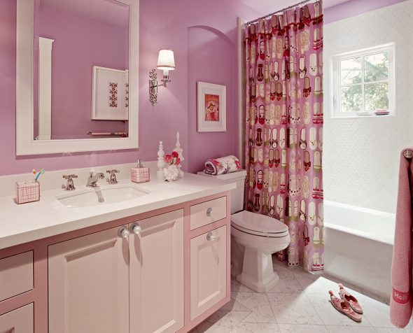 тумба под раковину розовая