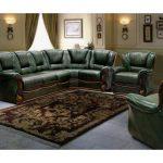 диван угловой темно зеленый