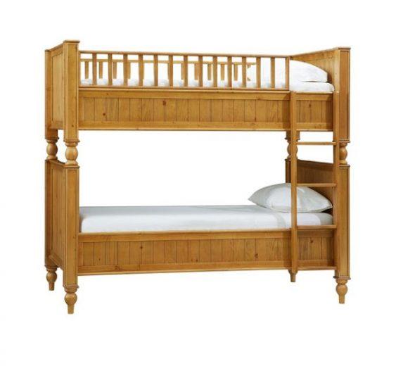 Великолепные классические модели двухъярусной кровати из дерева
