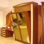 Встроенная в шкаф кровать на современном надежном креплении