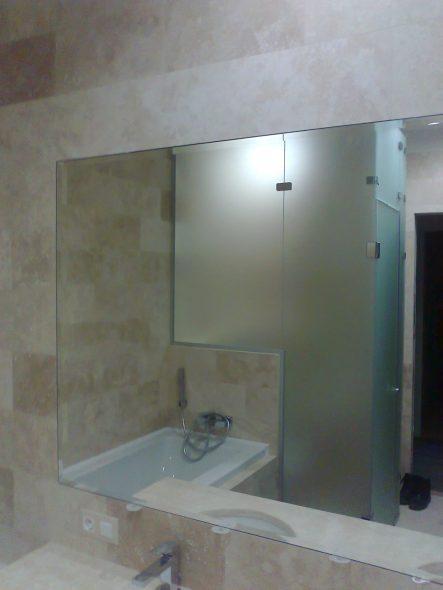 Зеркало встроенное в плитку с широким фацетом
