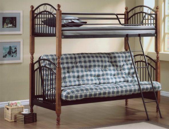 Железные двухярусные кровати