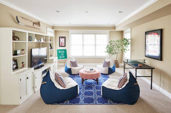 кресла мешки в гостиной