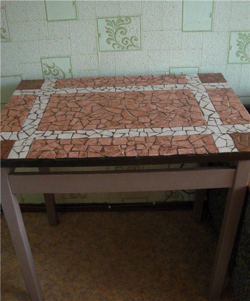 декорирование мебели плиткой