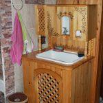 деревянная тумбочка под раковину