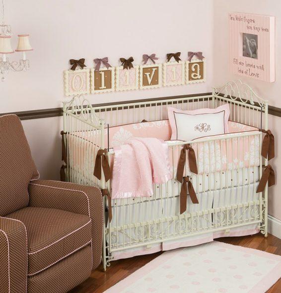 детские кроватки для девочек новорожденных