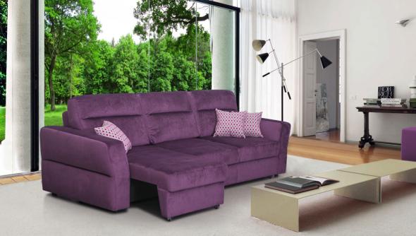 диван еврокнижка фиолетовый