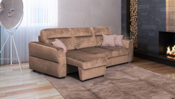 диван еврокнижка коричневый