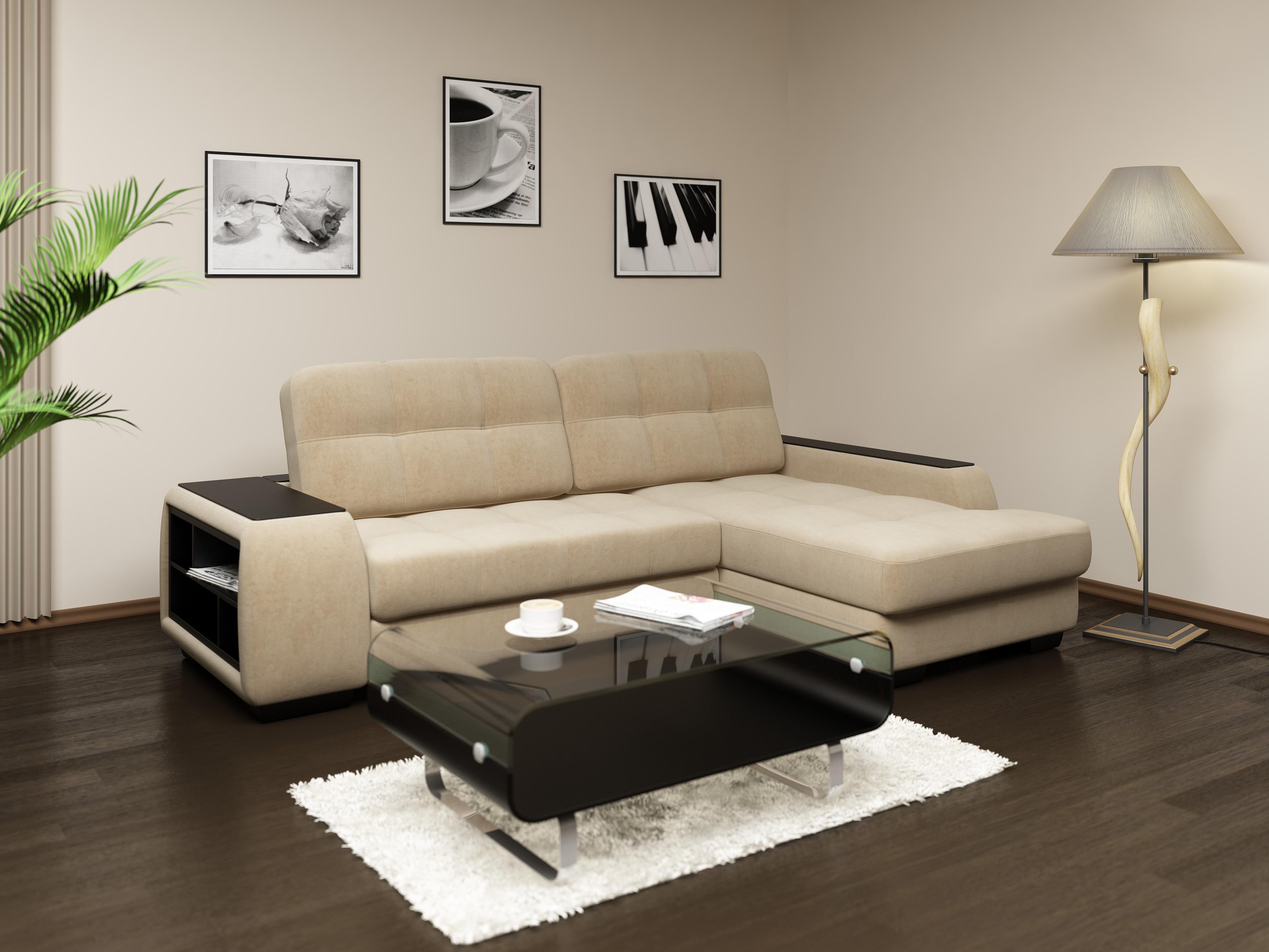 Дизайн углового дивана