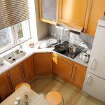 угловая кухня небольшая