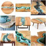 дизайн стола из эпоксидной смолы