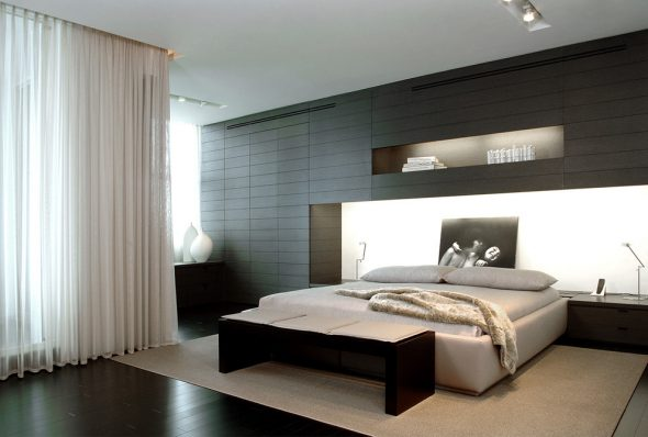 для спальни в стиле хай тек однозначно