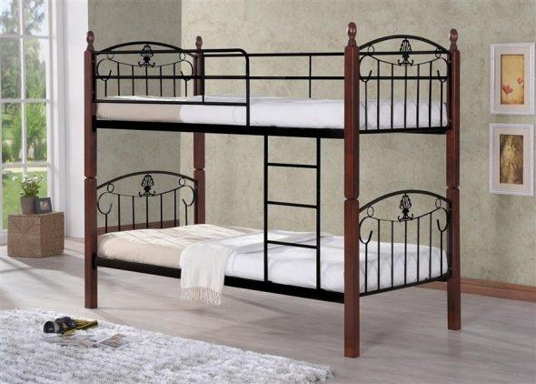 двухъярусная кровать 203 dd 90х200 темный орех