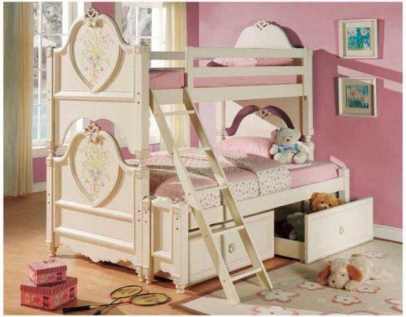 двухъярусная кровать для девочек подростков