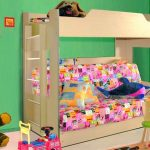 двухъярусная кровать с диваном фото в детской