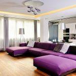 диван угловой фиолетовый