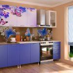 кухонные шкафы с принтом