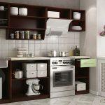 кухонные шкафы темный шоколад