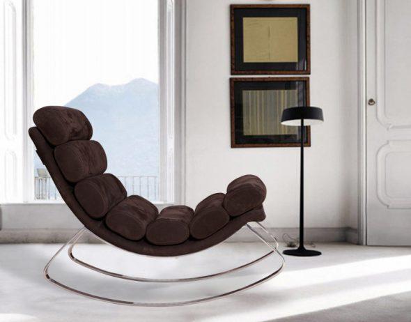 кресло качалка модерн