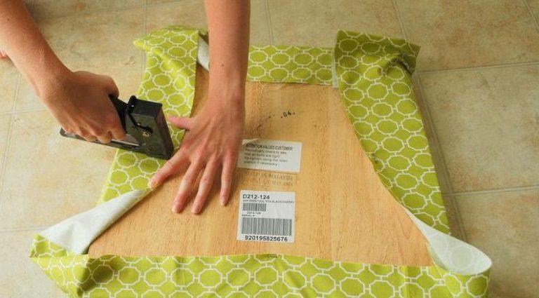Как обтянуть стул тканью своими руками 65