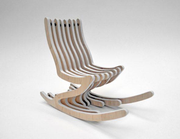 дизайнерское кресло из фанеры
