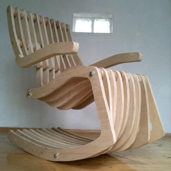 кресло фанерное
