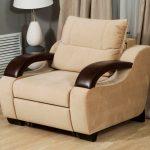 кресло кровать бежевого цвета