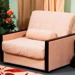 кресло кровать светлое