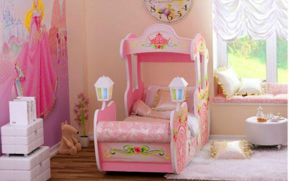 кровать машинка для девочки