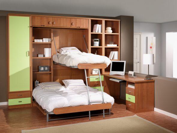 кровати в шкафе