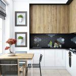 угловой шкаф на кухне белый